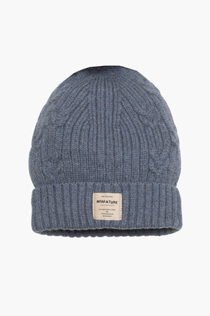Mini A Ture Merino Knit Kids Hat - Peacoat Blue