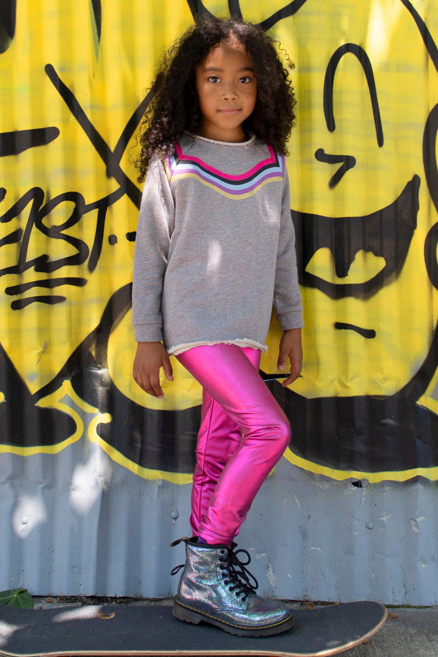 Appaman Metallic Fuchsia Girls Leggings