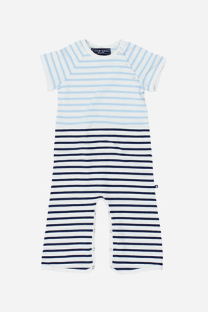 Toobydoo Blue Stripe Jumpsuit