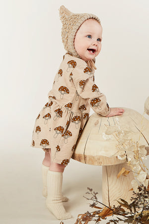 Rylee + Cru Mushroom Button Up Baby Dress