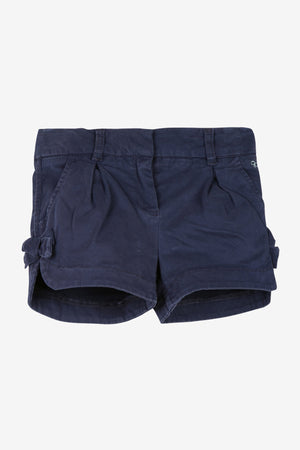 Lili Gaufrette Bow Shorts - Navy
