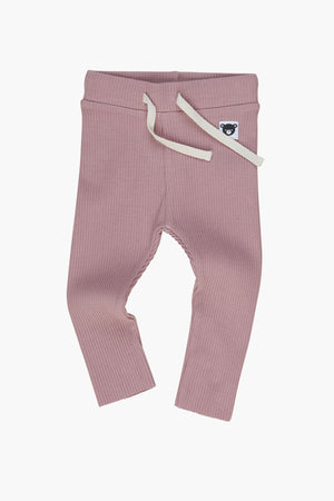 Huxbaby Orchid Rib Girls Leggings