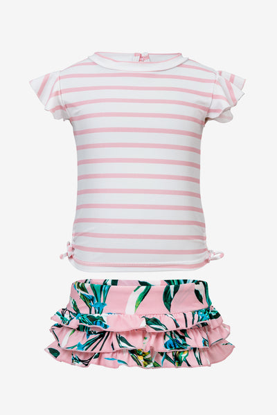 Royal Palm Ruffle Baby Girls Set
