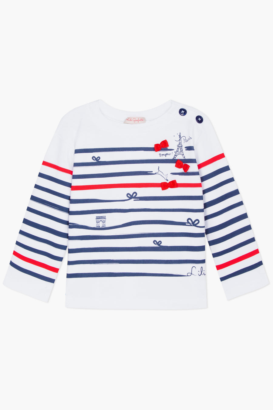 Lili Gaufrette Paris Girls Long Sleeve Shirt