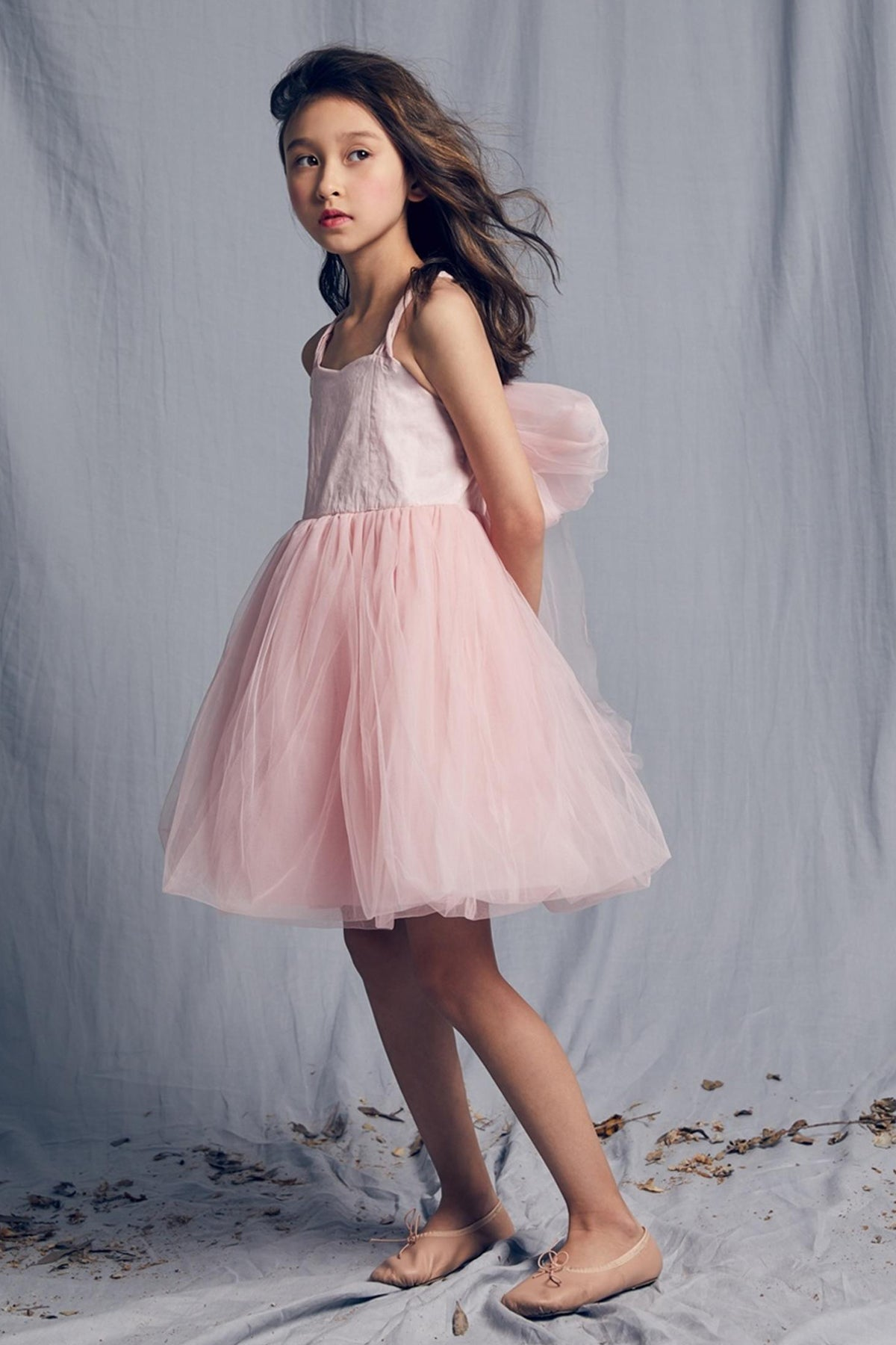 Nellystella Peach Girls Dress - Peaches