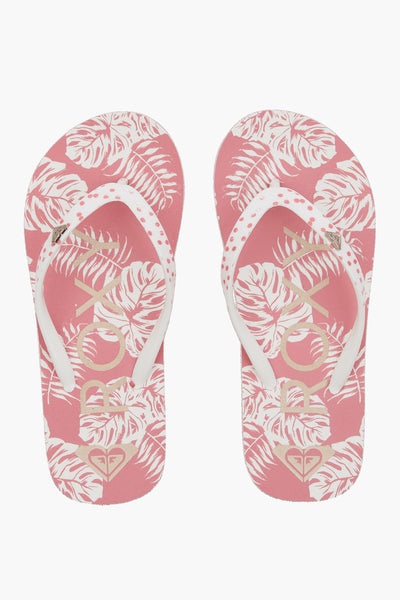 Roxy Pebbles Vii Girls Flip Flops - Barely Pink