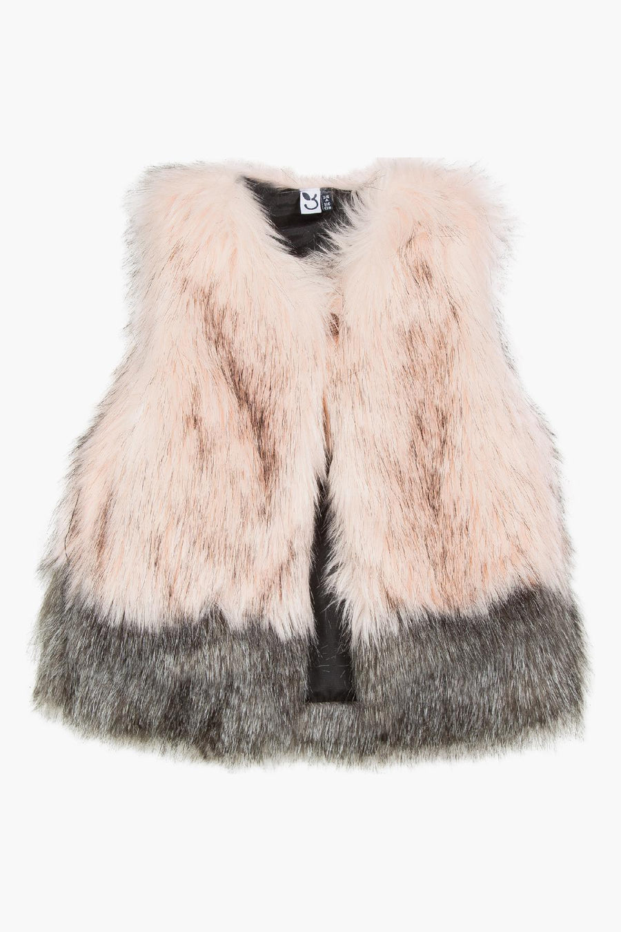 3pommes Pink Fur Girls Vest