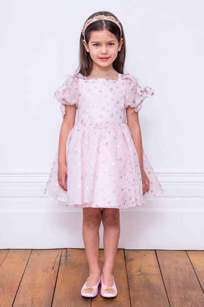 David Charles Pink Polka Dot Girls Dress