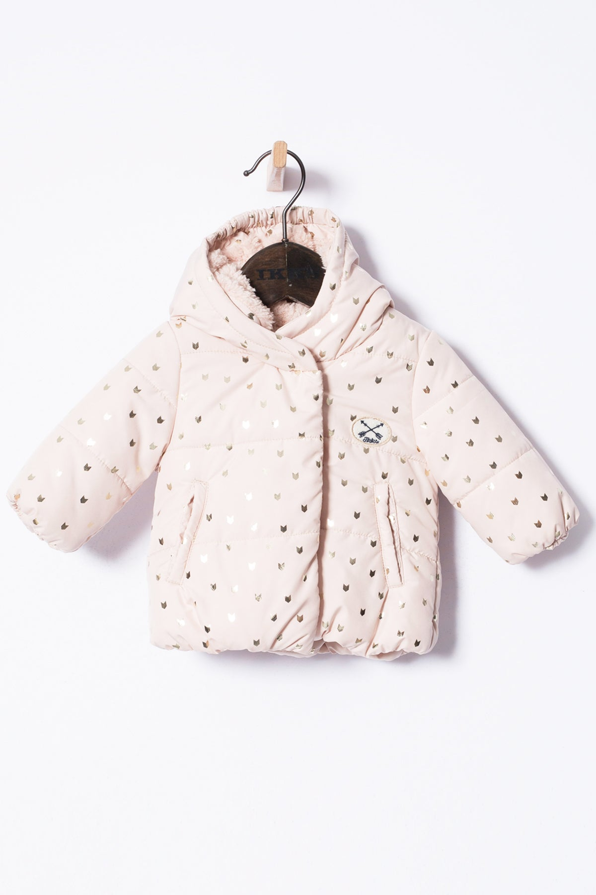 IKKS Baby Girl Printed Pink Coat