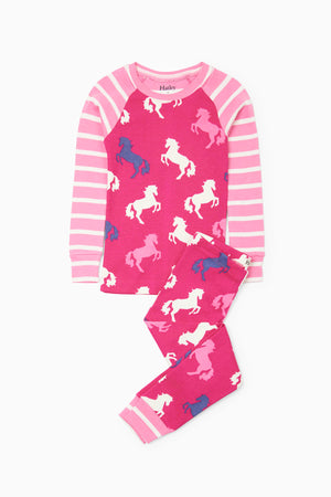 Hatley Playful Horses Pajama Set