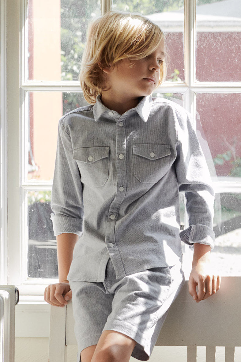 Wheat Poul Button Down Boys Shirt