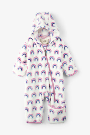 Hatley Pretty Rainbows Baby Girls Fleece Bundler