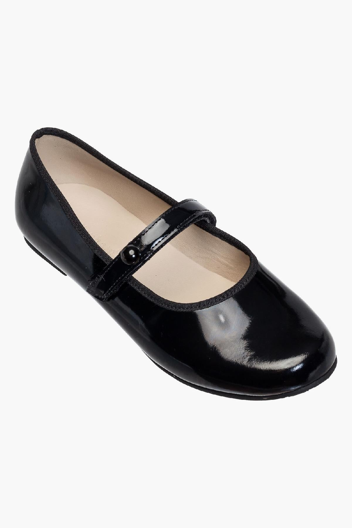 Elephantito Princess Mary Jane Flat - Black Patent
