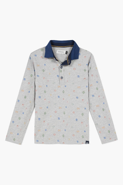Jean Bourget Printed Boys Polo Shirt
