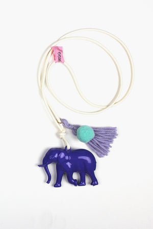 Purple Elephant Necklace
