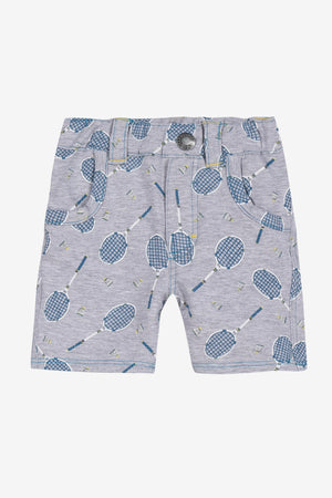 Jean Bourget Tennis Print Baby Shorts