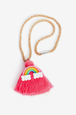 Ooahooah Rainbow Tassel Girls Necklace