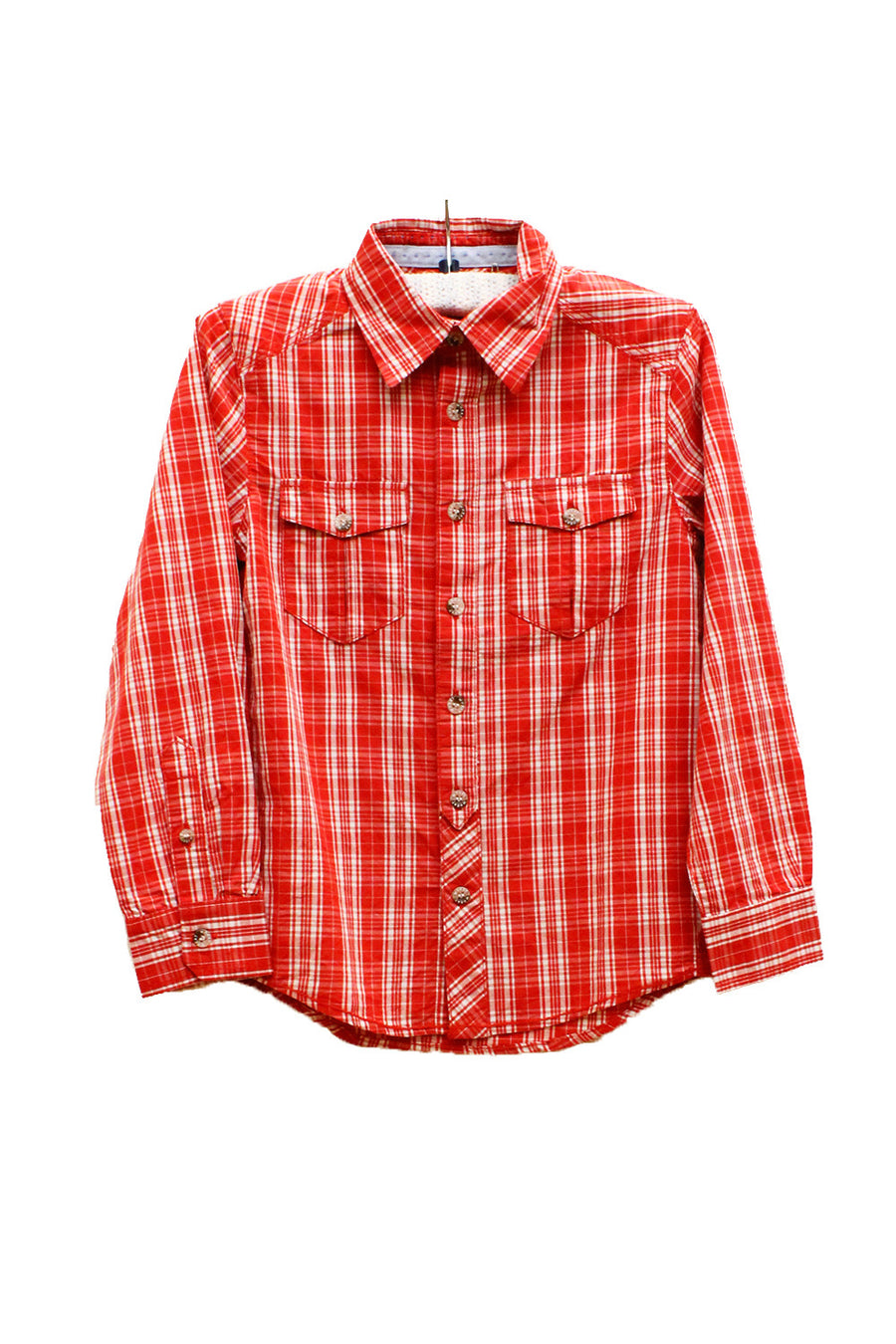 Wheat Red Checked Dines Shirt