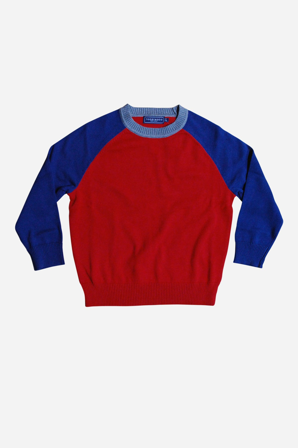 Toobydoo Blue/Red Boys Baseball Sweater (Size 4 left)