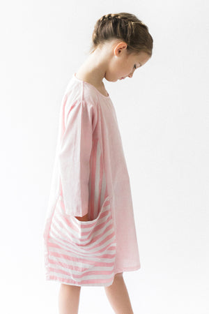 Vierra Rose Reina Dress - Pink Stripe