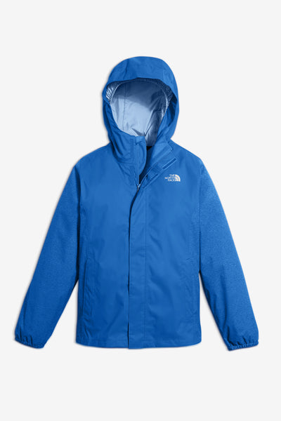 The North Face Girls' Resolve Reflective Rain Jacket - Dazzling Blue