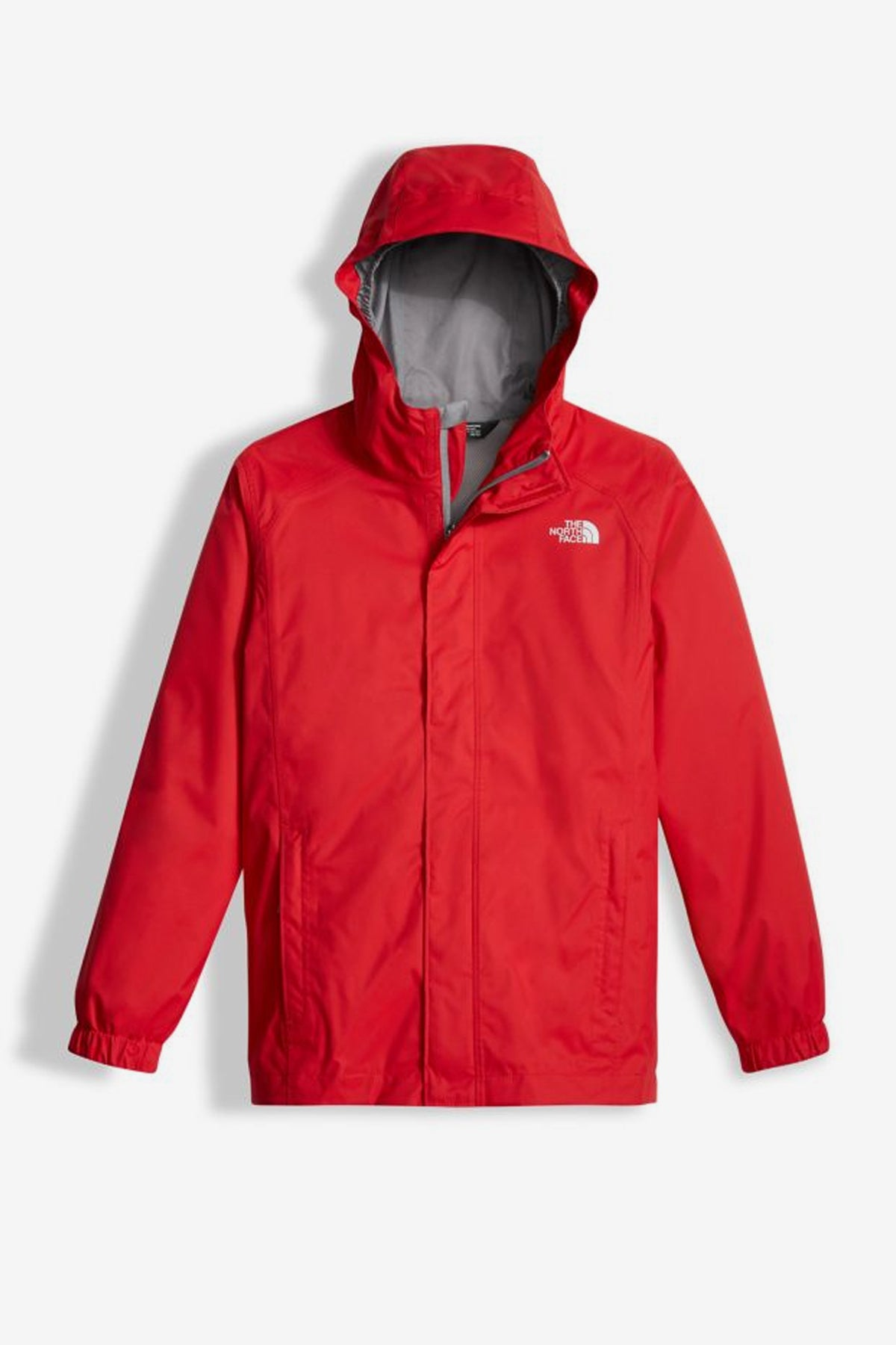 The North Face Resolve Reflective Kids Rain Jacket Red