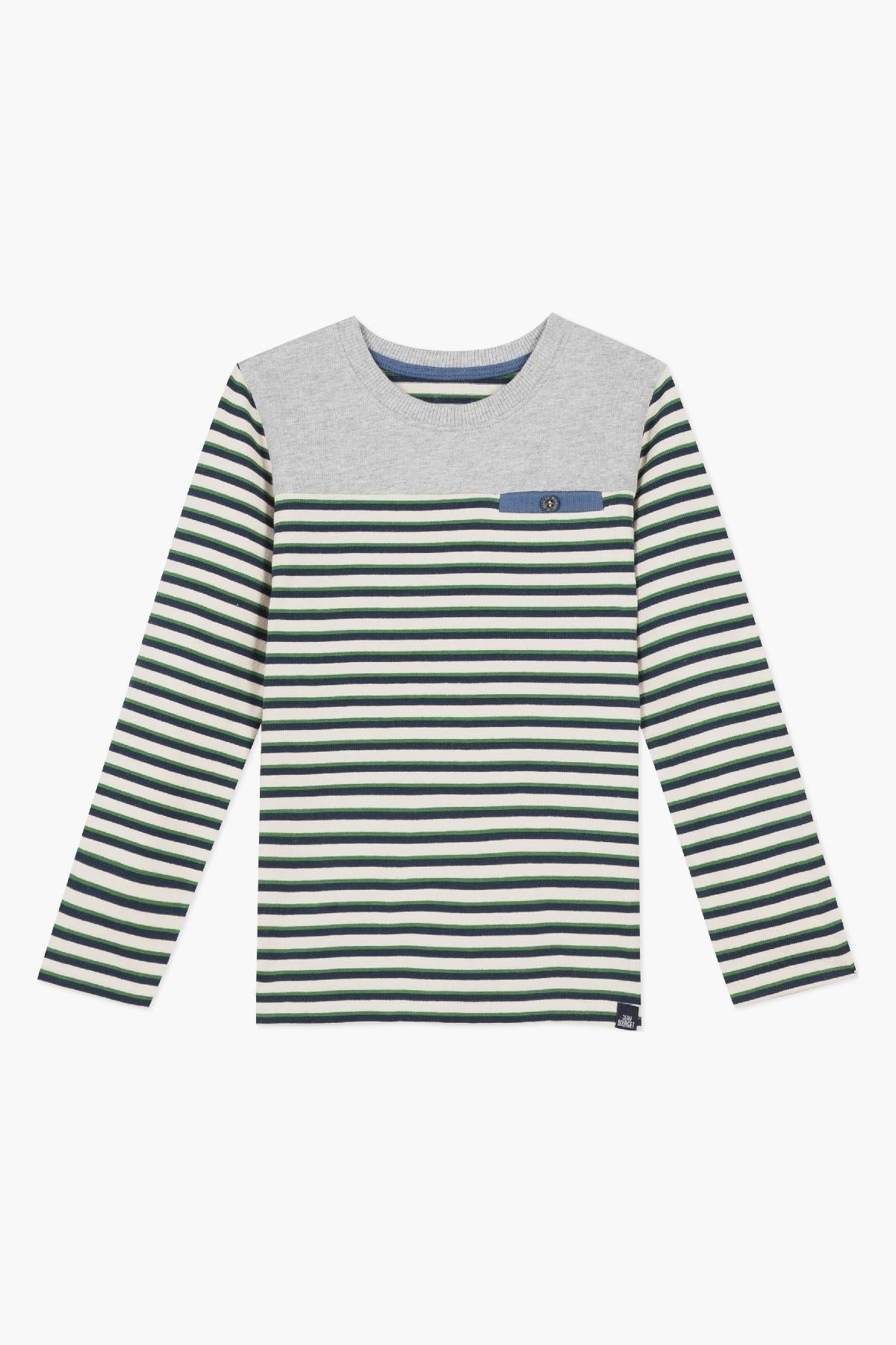 Jean Bourget Retro Gaming Striped Tee