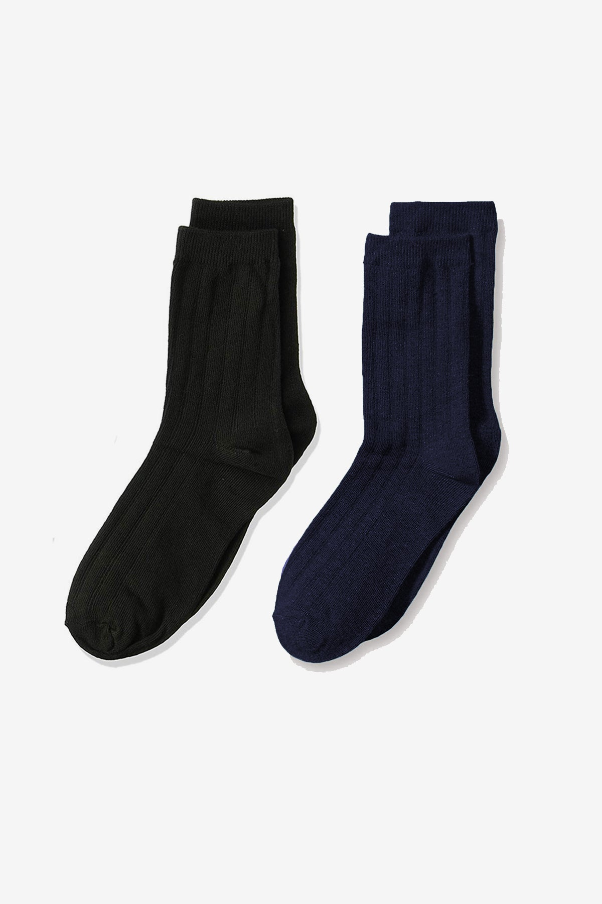 Jefferies Socks Rib Crew Socks 2-pack