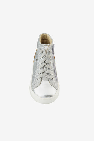 Old Soles Ring High Top - Glam Silver