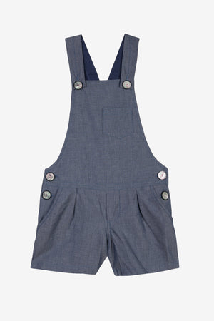 Jean Bourget Chambray Girls Romper