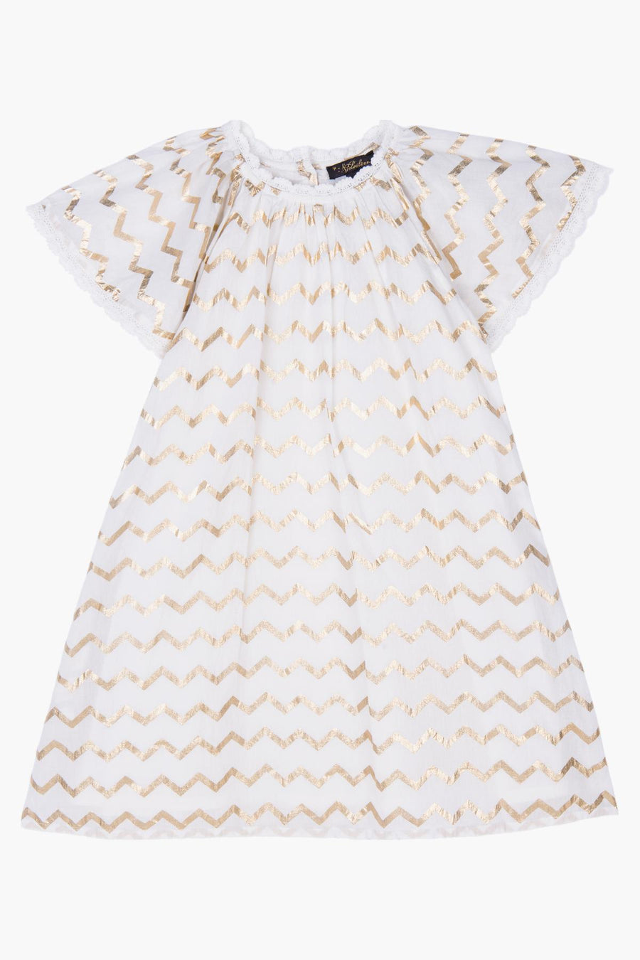 Velveteen Rosemary Chevron Girls Dress