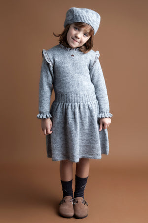Tocoto Vintage Ruffle Knit Girls Dress