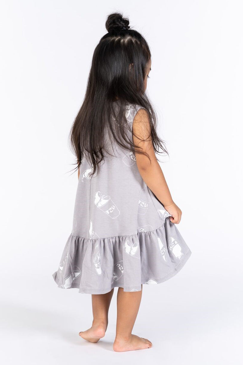 OMAMImini Ruffled Tent Dress - Grey