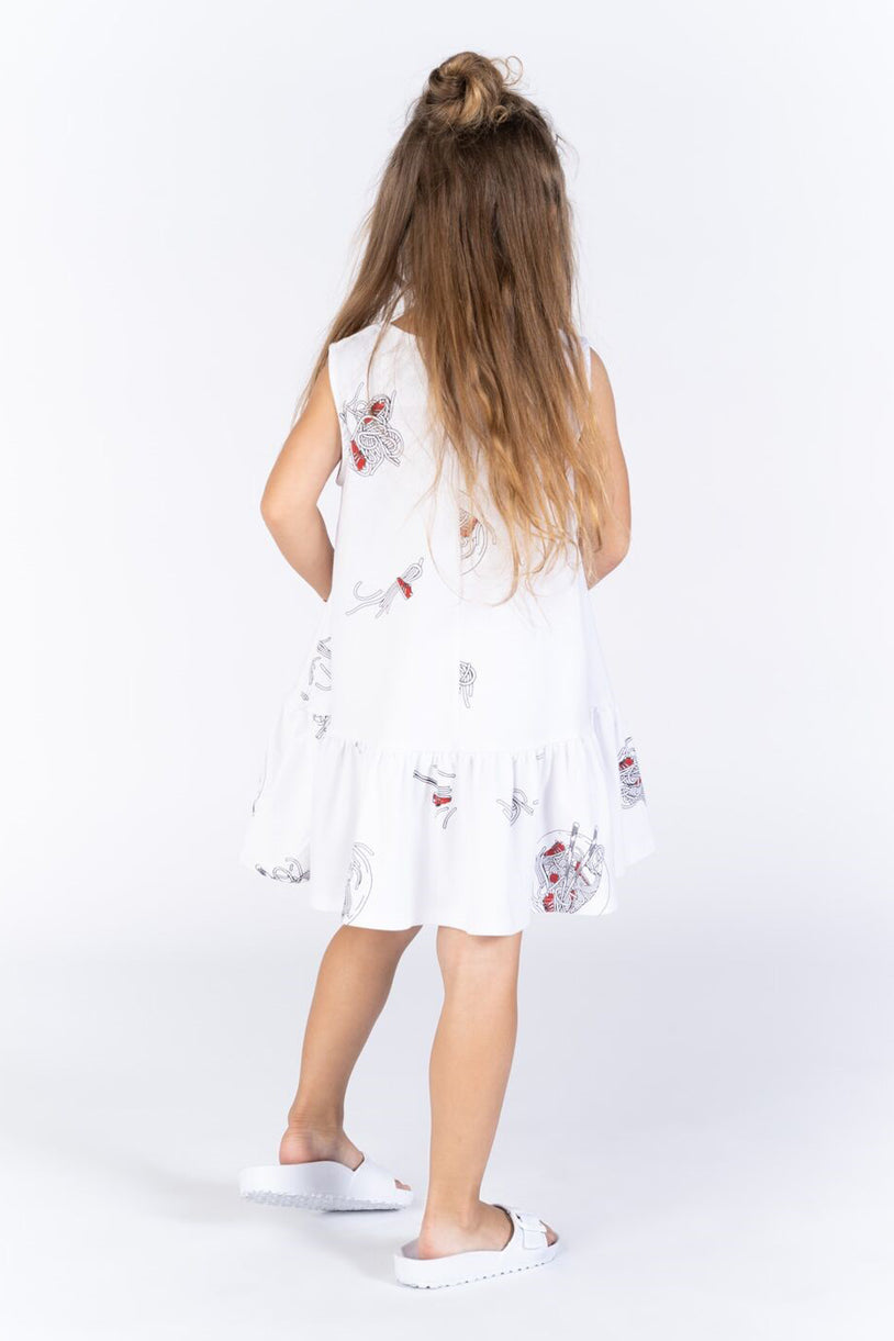 OMAMImini Ruffled Tent Dress - White