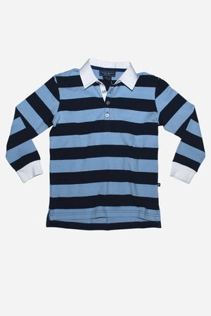 Toobydoo Blue Stripe Rugby Shirt