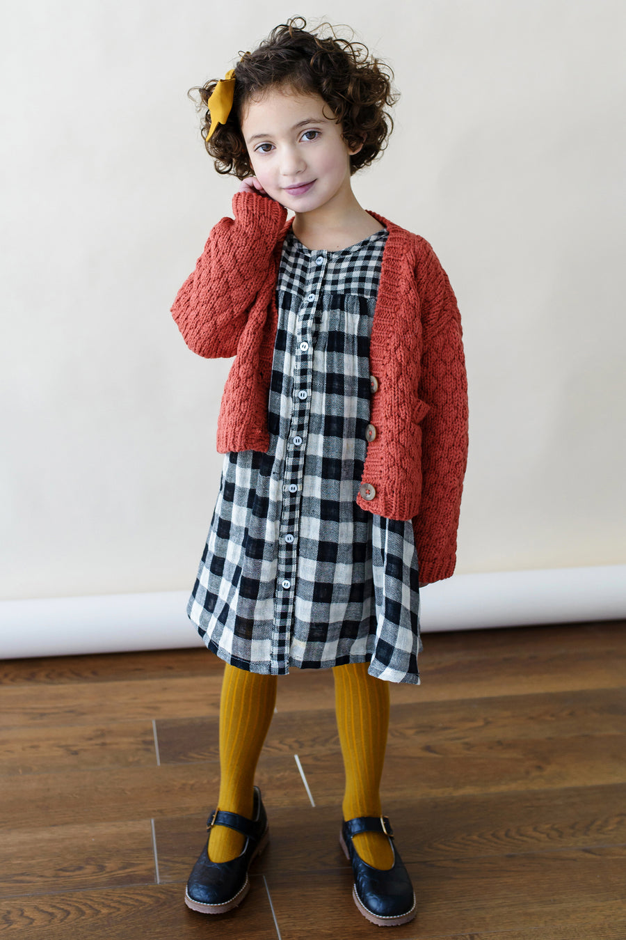 Lali Kids Rust Bubble Cardigan
