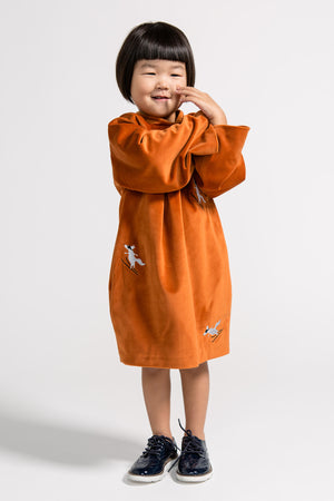 OMAMImini Velvet Fox Dress