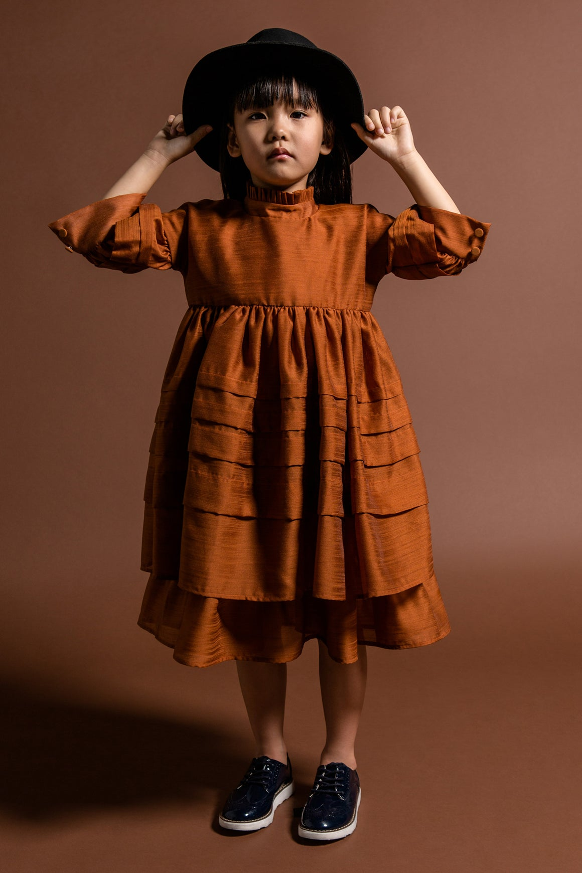 OMAMImini Layered Voile Dress - Rust