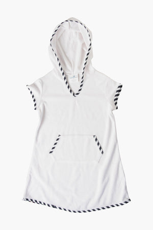 Snapper Rock Sailor Stripe Towelling Girls Cover-Up