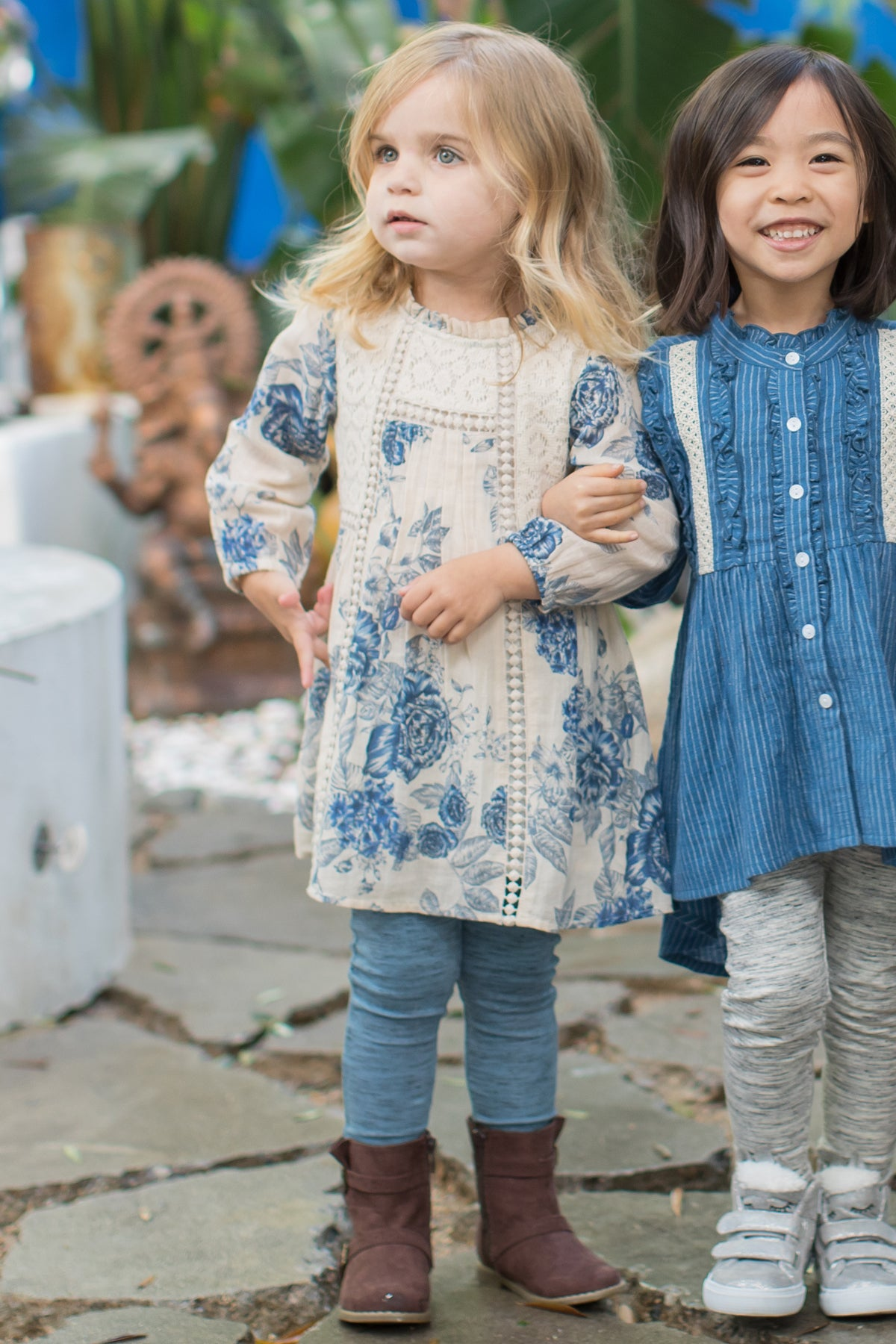 Mimi and Maggie Salt And Pepper Leggings - Blue
