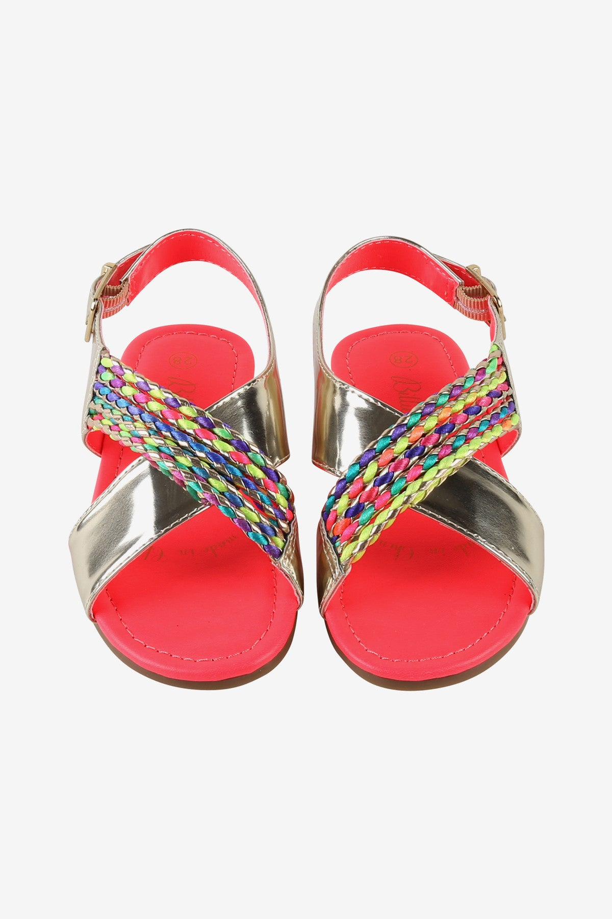 Billieblush Gold Braid Girls Sandals
