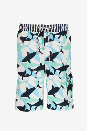 Shark Board Boys Swim Shorts