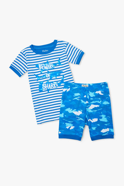 Hatley Shark Camo Boys Pajama Set