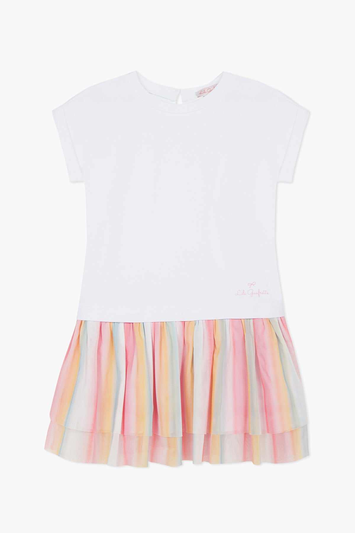 Lili Gaufrette Sherbet Duo Girls Dress