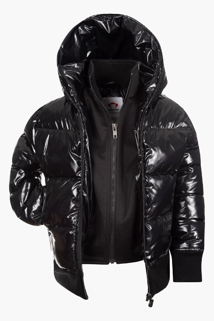Appaman Shiny Black Flurry Puffy Girls Coat
