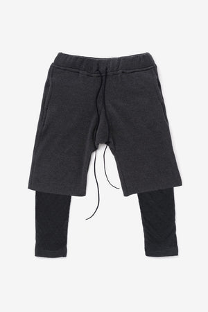 OMAMImini Layered Fleece Shorts - Black
