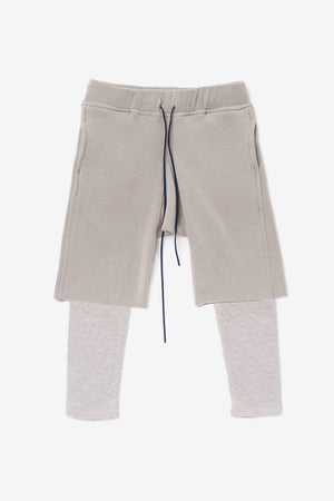 OMAMImini Layered Fleece Shorts - Grey