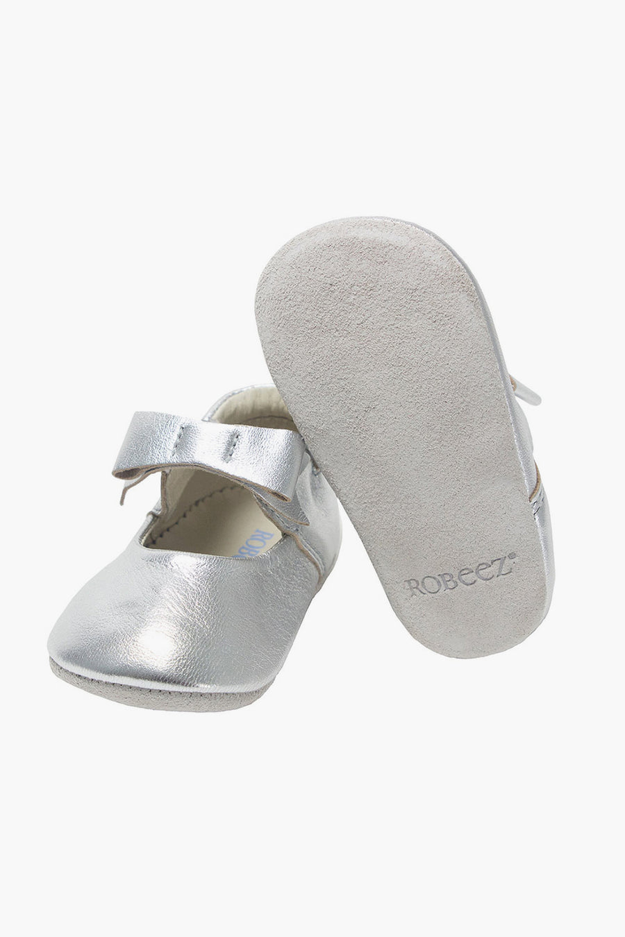 Robeez Sofia Baby Girls Shoes - Silver Metallic