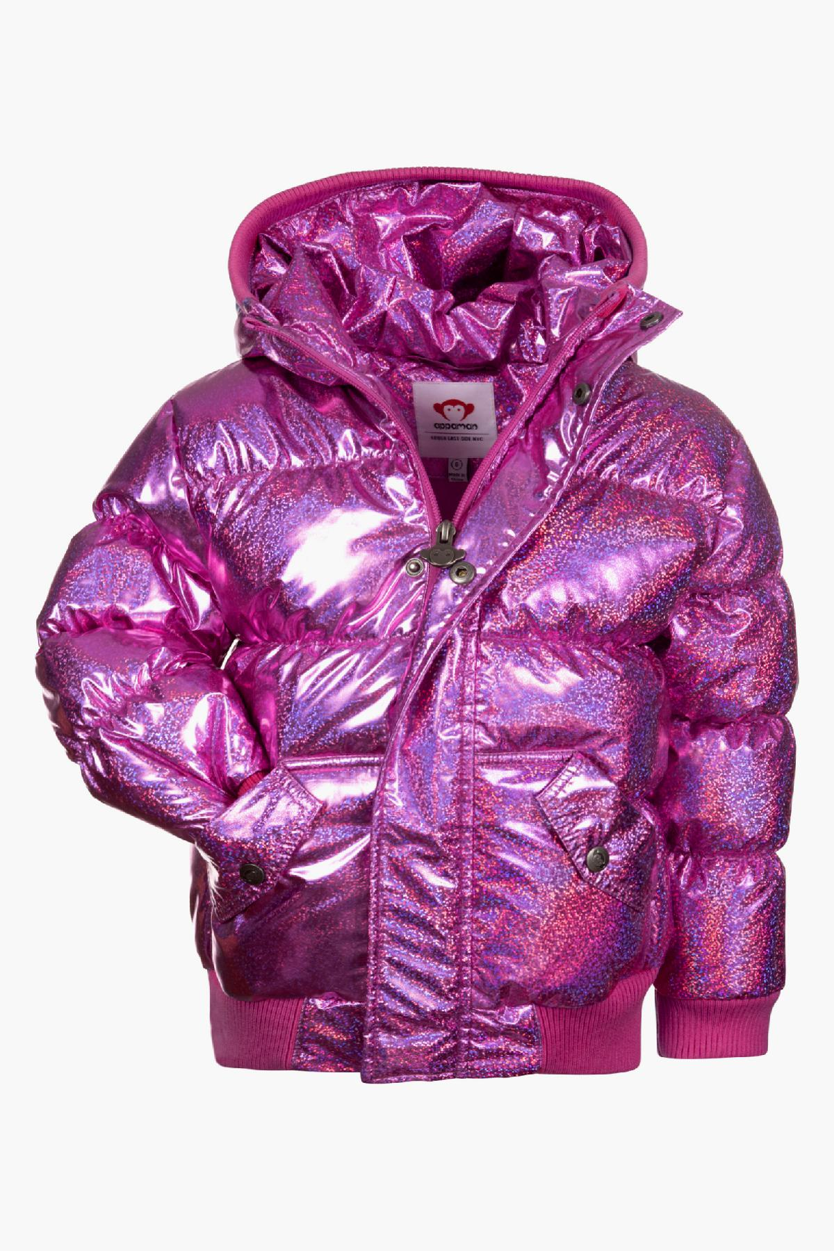 Appaman Sparkle Pink Puffy Girls Coat