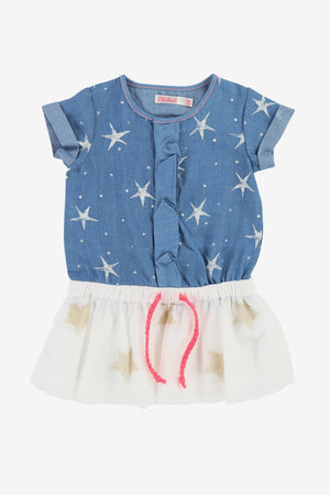 Billieblush Baby Star Denim Dress